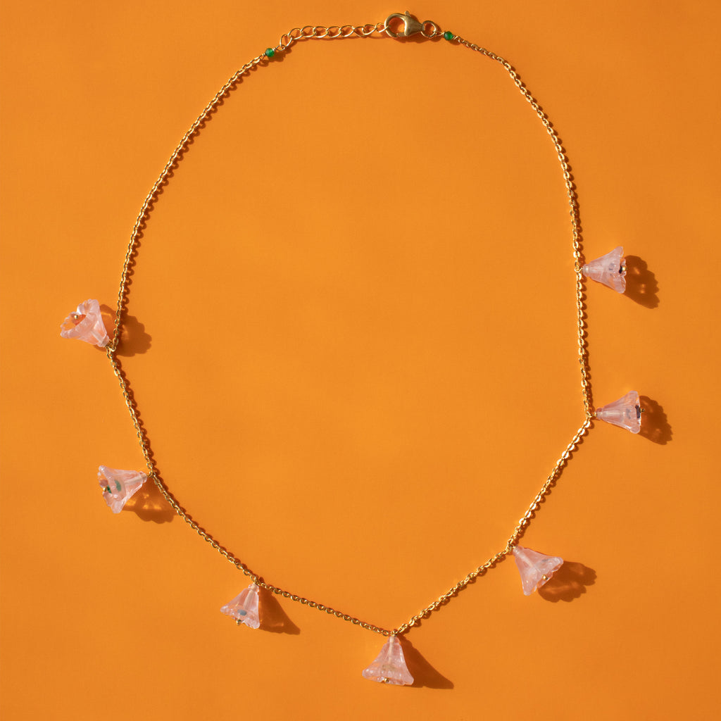 Rose Quartz Garland Necklace