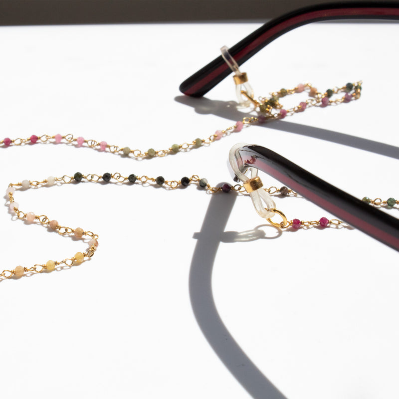 Eye Wear Chain | Multicolor Tourmaline