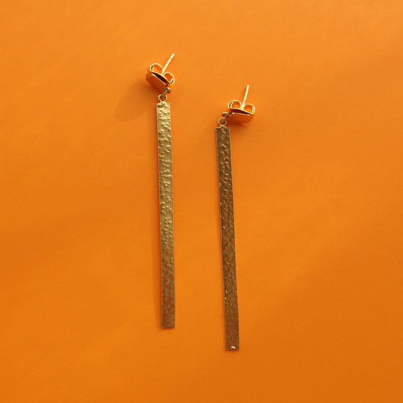 Golden Stick Earrings
