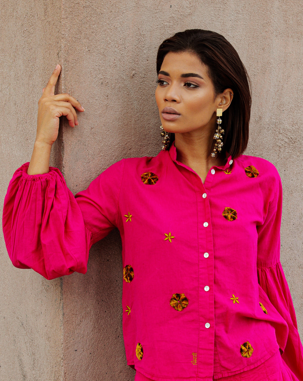 Ashrafi Blouse | India Pink