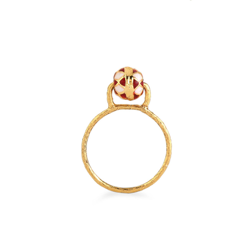 Erika Ring | Fiery Checker | Sizes Available