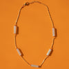 Jade Pipe & Coral Necklace