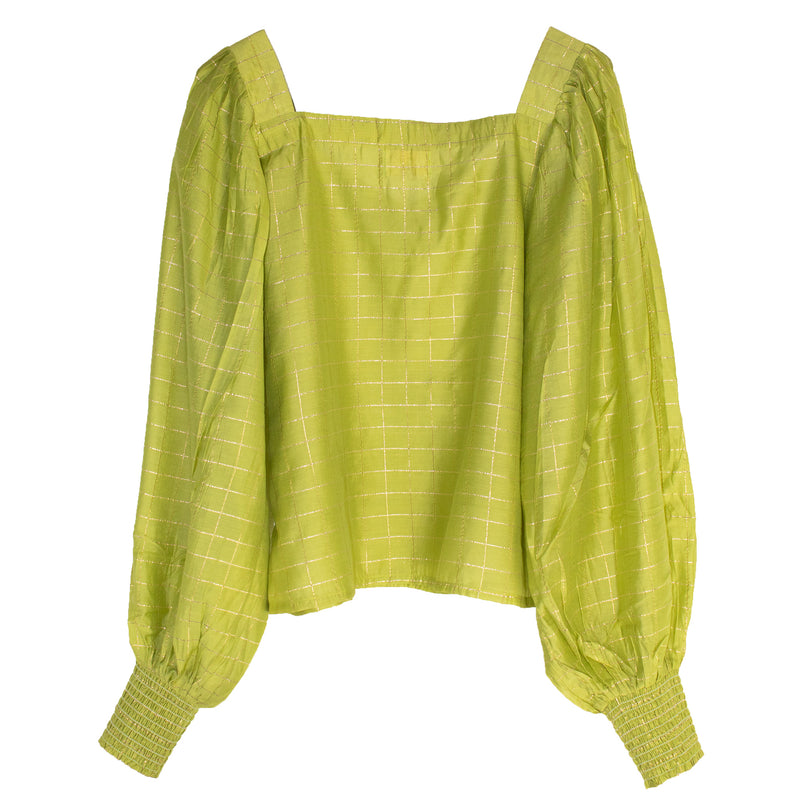 Jaspreet Blouse | Lime