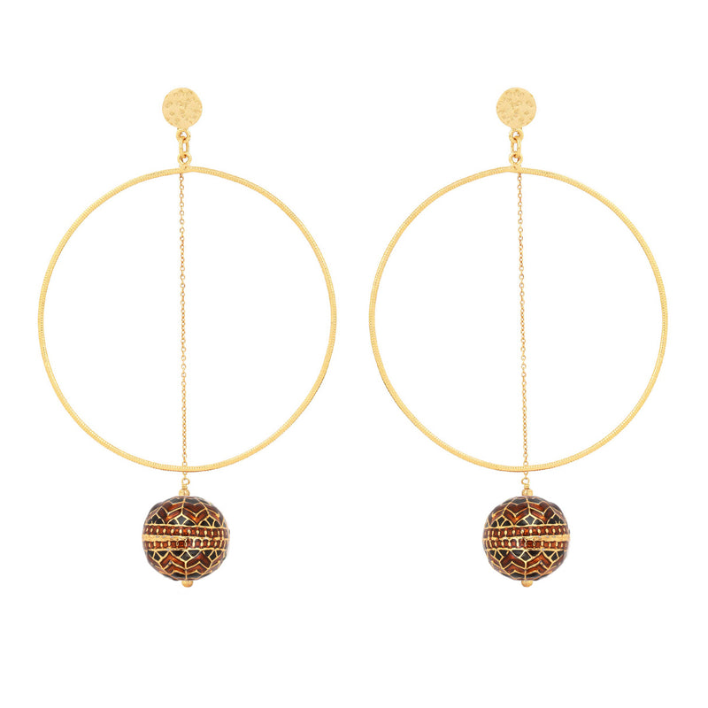 Laboni Hoops | Caramel