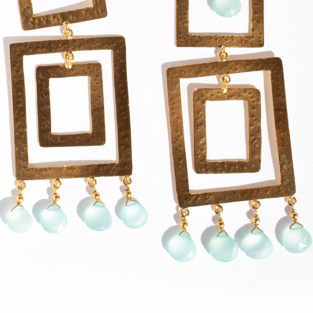 Makena Earrings | Chalcedony