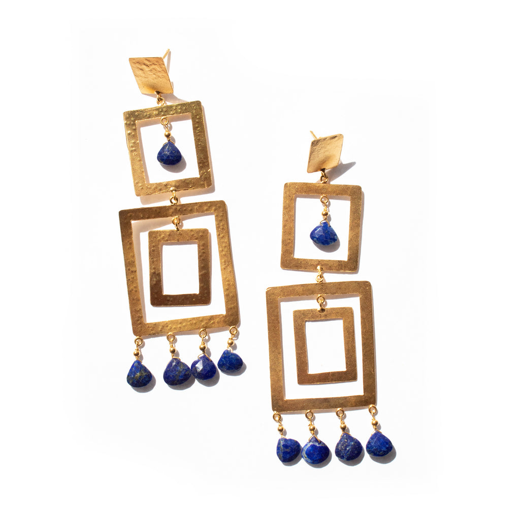 Makena Earrings | Lapis Lazuli