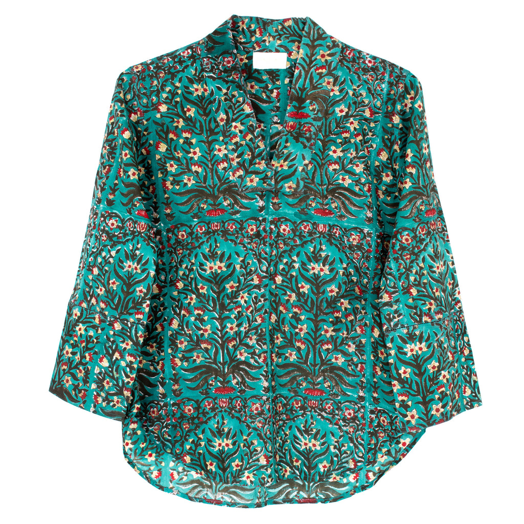 Saha Blouse | Teal