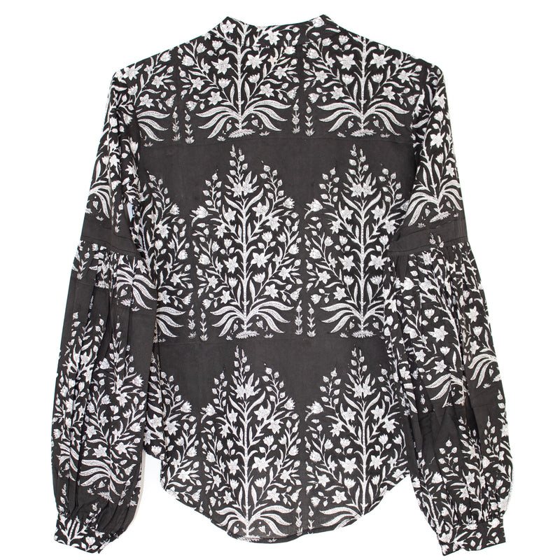 Miraya Blouse | Charcoal