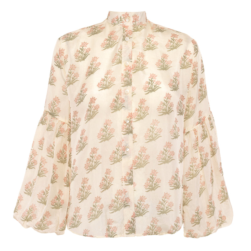 Miraya Blouse | Silk Wild Flowers