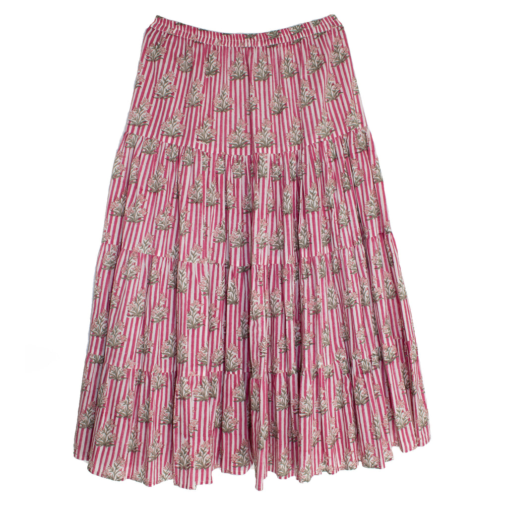 Irma Skirt | Pink Stripes