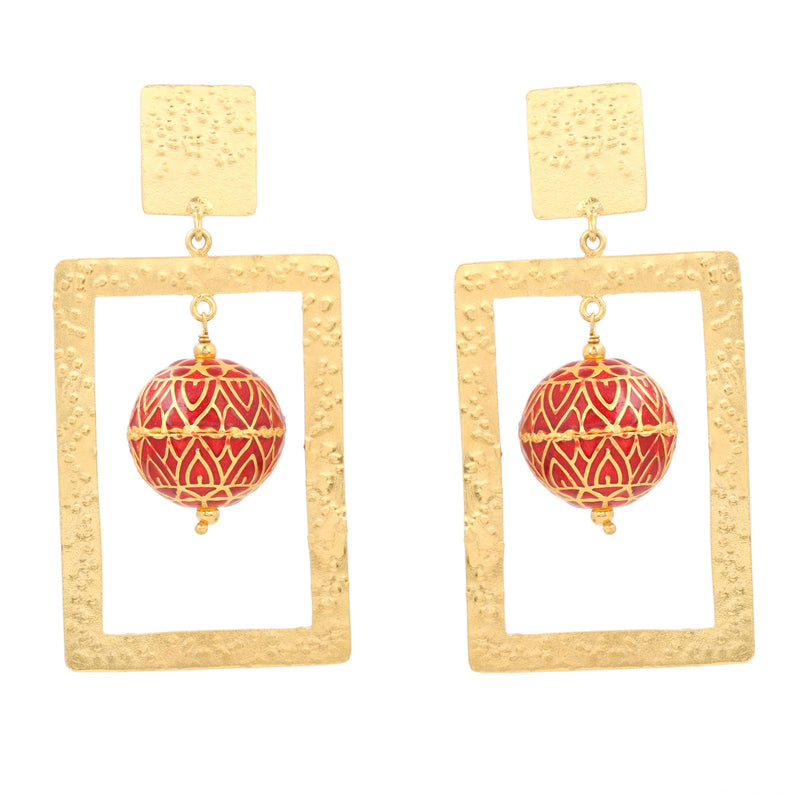 ZINDAGI Regina Fiery Earrings shopzindagi.com