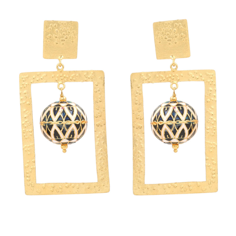 ZINDAGI Regina Nautical Lotus Earrings