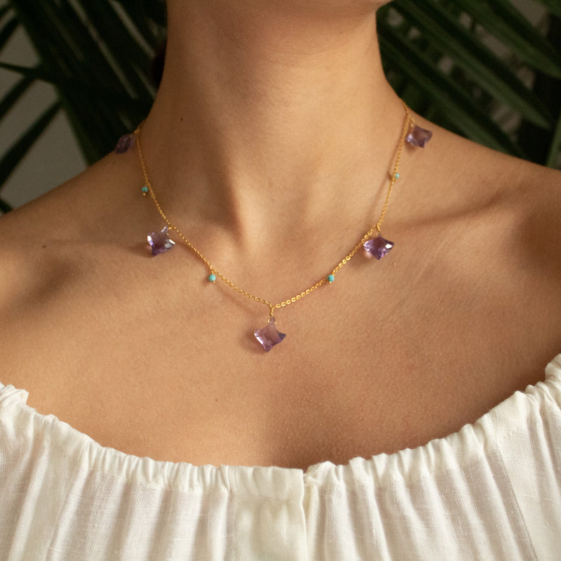 Unique Amethyst Necklace