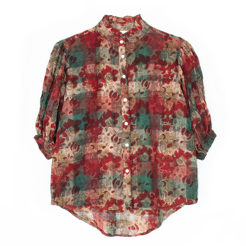 Up Blouse | Red Weave