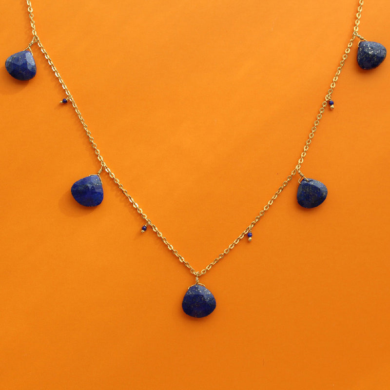 Starry Lapis Night Necklace