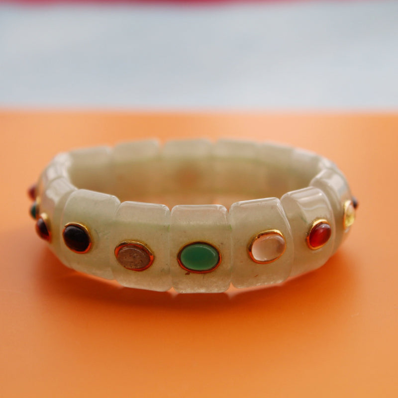 Muskan Bracelet | Light Jade