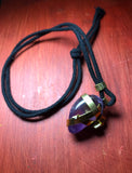 Purple Stone With Gold Energy Wrap Chain