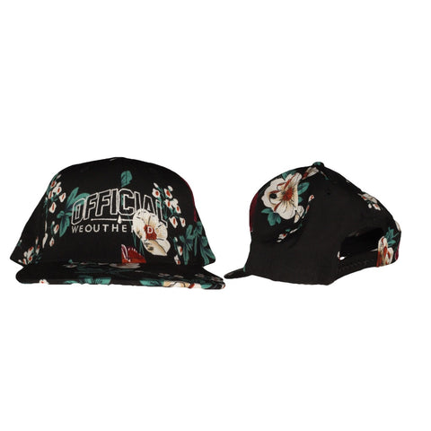 OFFICIAL WEOUTHEREDOE SNAPBACK BLACK FLORAL  LIMITED EDITION
