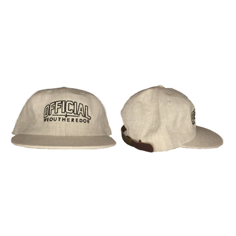 OFFICIAL WEOUTHEREDOE CREME STRAP BACK  LIMITED EDITION