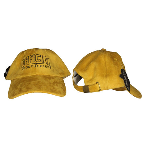 OFFICIAL WEOUTHEREDOE DAD HAT GOLD SUEDE LIMITED EDITION