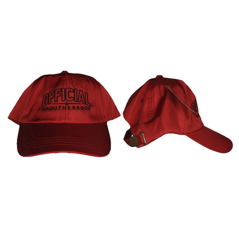 OFFICIAL WEOUTHEREDOE DAD HAT RED LIMITED EDITION