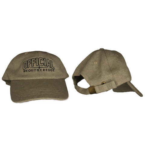 OFFICIAL WEOUTHEREDOE DAD HAT DARK TAN LIMITED EDITION