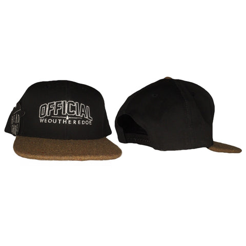 OFFICIAL WEOUTHEREDOE SNAPBACK BLACK CORKSCREW BRIM LIMITED EDITION