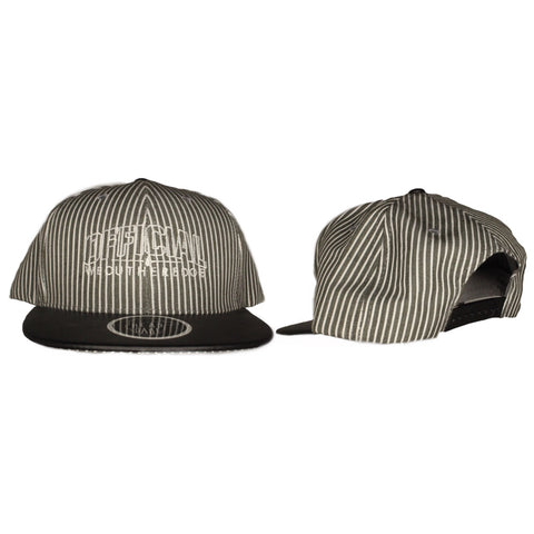 OFFICIAL WEOUTHEREDOE SNAPBACK PIN STRIPE ILLUSION LIMITED EDITION