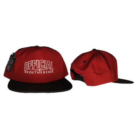 OFFICIAL WEOUTHEREDOE SNAPBACK RED LIMITED EDITION