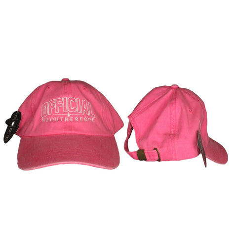 OFFICIAL WEOUTHEREDOE DAD HAT PINK/WHITE LIMITED EDITION