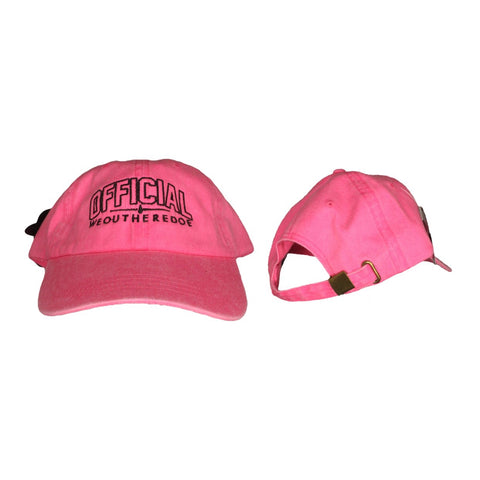 OFFICIAL WEOUTHEREDOE DAD HAT PINK/BLACK LIMITED EDITION