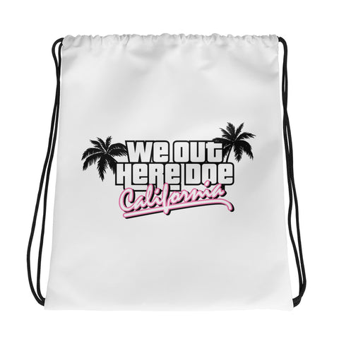 """CALIFORNIA DREAMIN"" Drawstring bag"