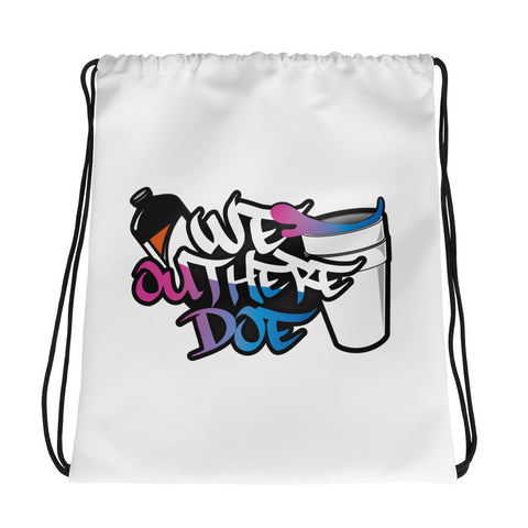 Cotton Candy splash Drawstring bag