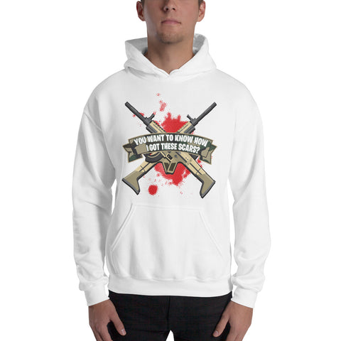 COME CATCH THESE SCARS Hooded Sweatshirt