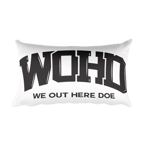 We Out Here Doe Logo Rectangular Pillow