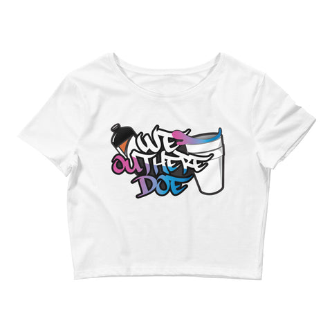 Cotton Candy Splash Women's Crop Tee