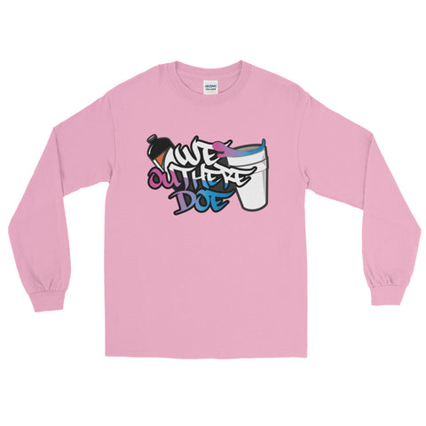 Cotton Candy splash Long Sleeve T-Shirt