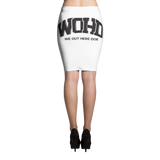 We Out Here Doe Logo Pencil Skirt