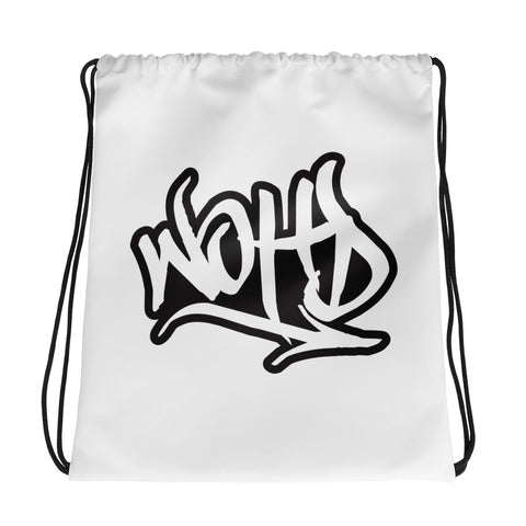 WE OUT HERE DOE GRAFFITI Drawstring bag