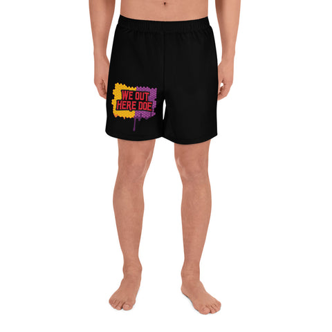Honey Drip collision Men's Athletic Long Shorts