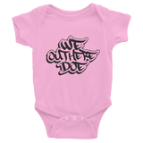 We Out Here Doe baby onesie