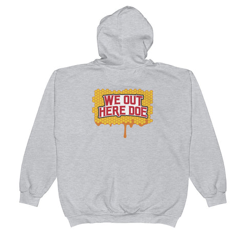 Honey Drip WOHD back print on Zip Hoodie