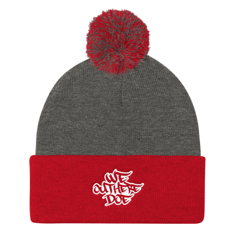 We Out Here Doe Logo Pom Pom Beanie