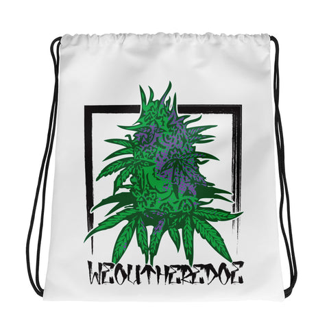 PURPLE NUGS Drawstring bag