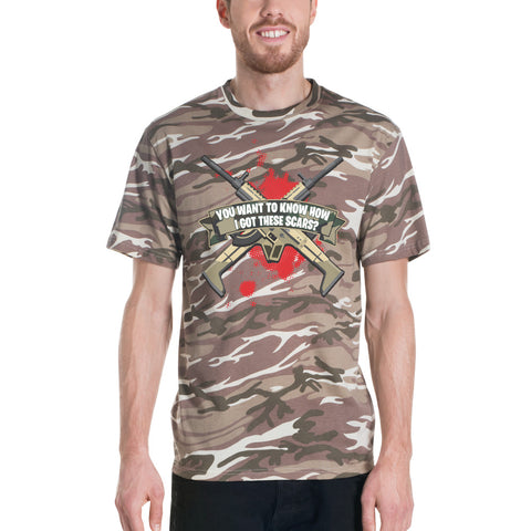 COME CATCH THESE SCARS camouflage t-shirt