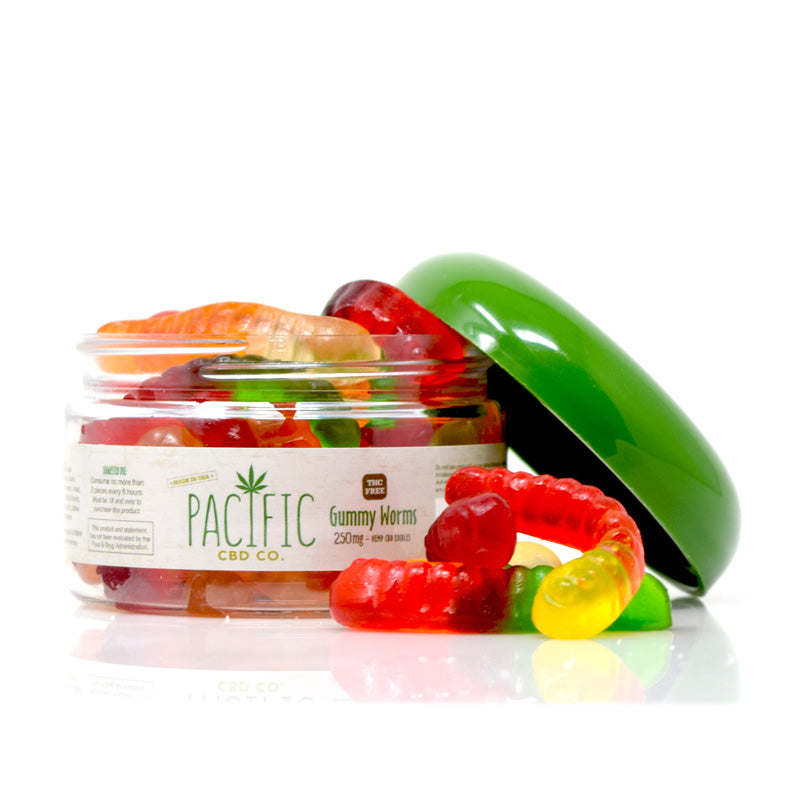 Pacific CBD Co. Gummy Worms - 250mg