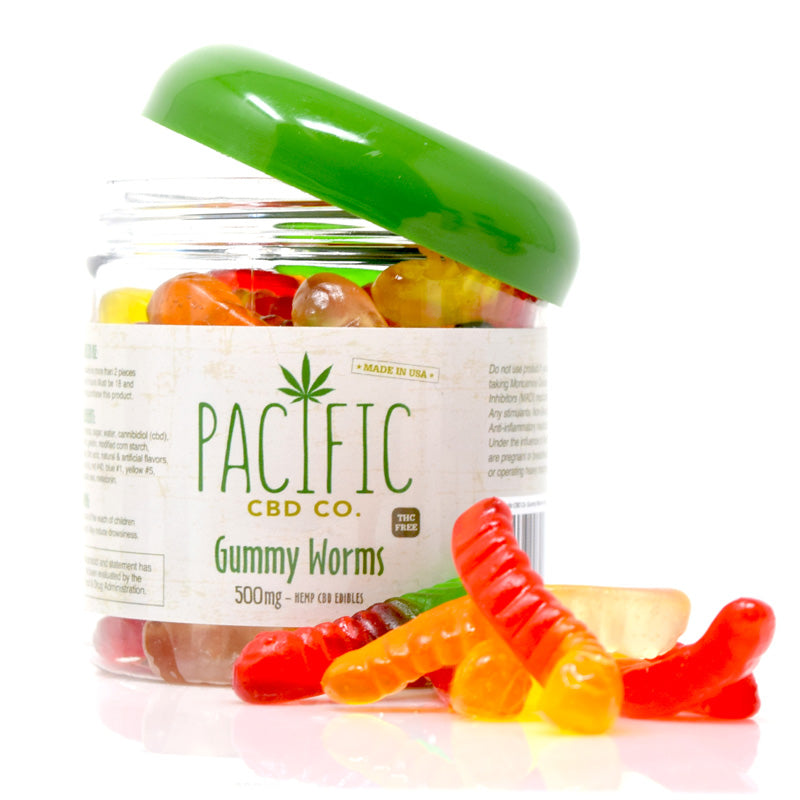 Pacific CBD Co. Gummy Worms - 500mg