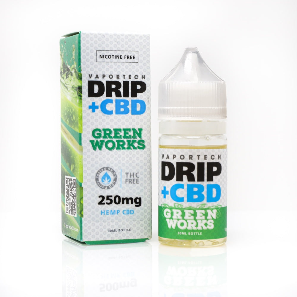VaporTech Drip+CBD: New Green Works