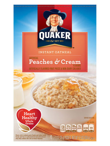 Quaker Peaches & Cream Instant Oatmeal