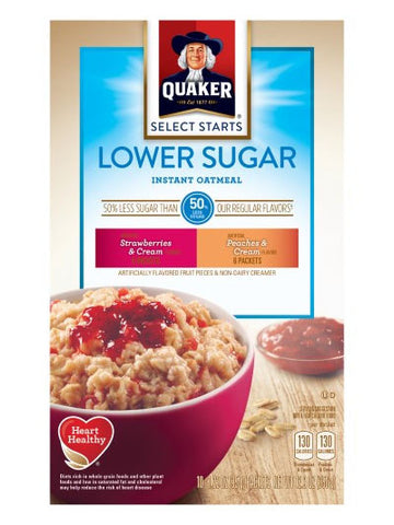 Quaker Lower Sugar Fruit & Cream Instant Oatmeal